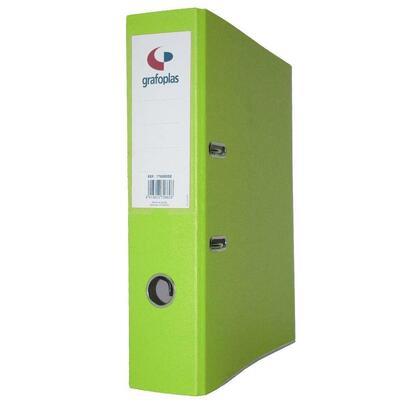 grafoplas-archivador-con-palanca-de-65mm-din-a4-grafcolor-verde-carton-de-25-mm-forrado-en-pp