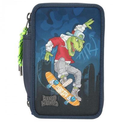 dino-world-trippel-pencil-case-skating-t-rex-0411110