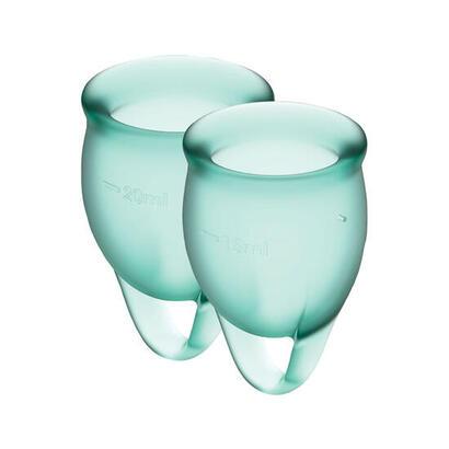 copas-menstruales-feel-confident-dark-green-clave-pack-de-2