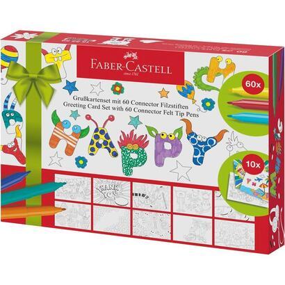 faber-castell-juego-de-rotuladores-con-punta-de-fieltro-connector-tarjetas-de-felicitacion-70-piezas-155559