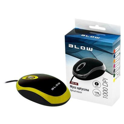 blow-optical-mouse-mp-20-usb-yellow-1000-dpi