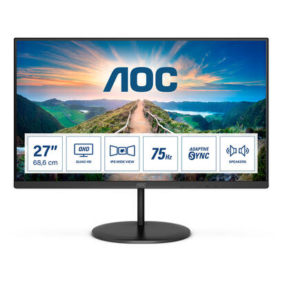 monitor-aoc-27-q27v4ea-qhd-ips-75hz-4ms-display-port