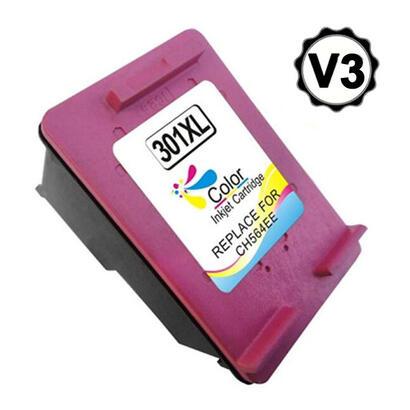 cartucho-de-tinta-remanufacturado-para-hp-301xl-v3-tricolor-ch562eech564ee-muestra-nivel-de-tinta