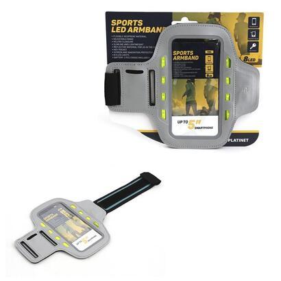 platinet-brazalete-smartphone-con-luces-led-gris