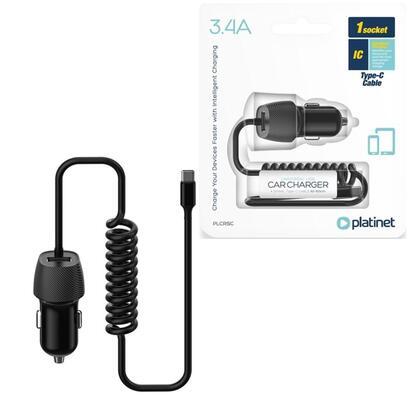 platinet-cargador-de-coche-type-c-34a-cable-espiral