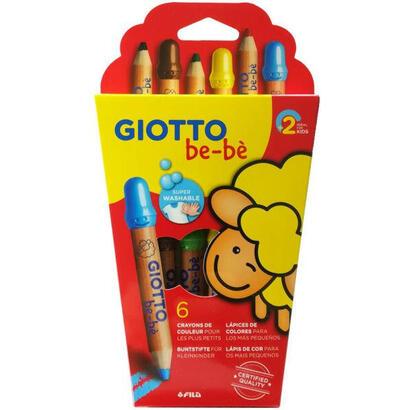 pack-6-lapices-de-colores-giotto-be-be-469600-mina-gigante-o-7mm-capuchon-de-seguridad-colores-super-lavables-incluye-sacapuntas