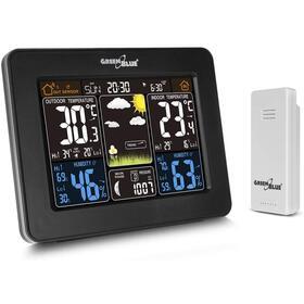 greenblue-estacion-meteorologica-con-sensor-de-exterior-y-despertador-negro-gb523