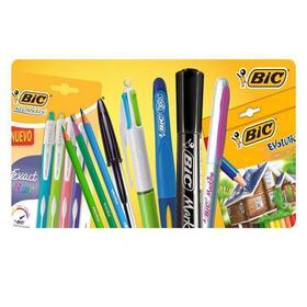combo-de-70-productos-bic-ceras-rotuladores-lapices-boligrafos-tippex