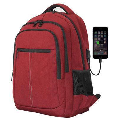 mochila-phoenix-boston-para-portatil-hasta-156-pulgadas-con-cable-usb-viaje-rojo