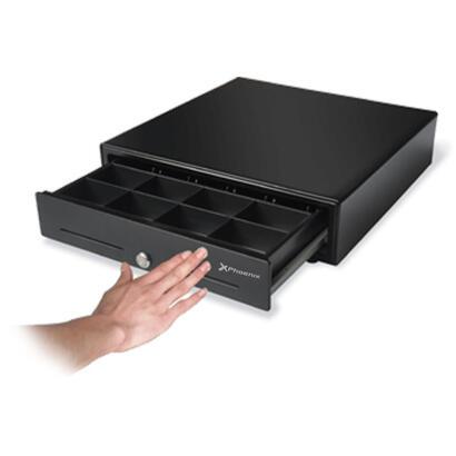 cajon-portamonedas-con-pulsador-manual-phoenix-41x42-tpv-8-compartimentos-monedas-5-billetes-rodamientos-railes-metalicos-negro