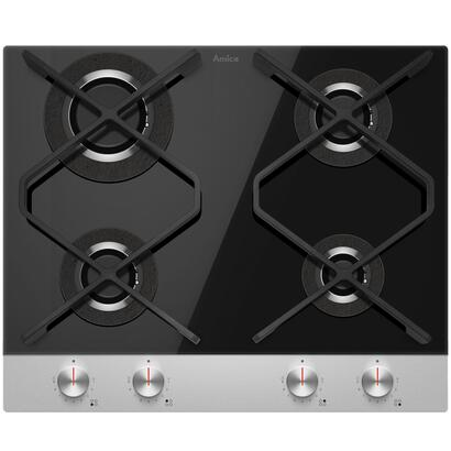 amica-pg6710srb-q-type-hob-built-in-gas-4-zones