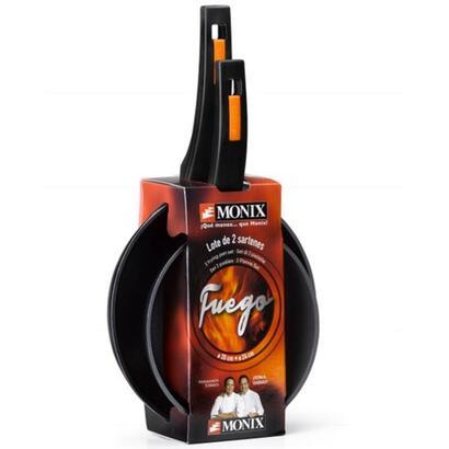 monix-pack-2-sartenes-fuego-20cm-y-24cm-forma-redonda-aluminio-forjado-aptas-para-induccion