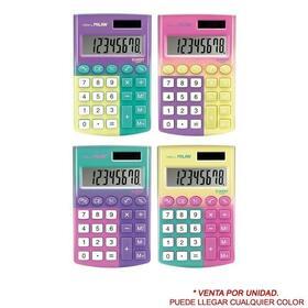 calculadora-milan-sunset-8-digitos-alimentacion-dual-celula-solarpila-15v-colores-surtidos