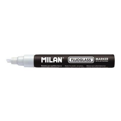 rotulador-milan-fluoglass-color-blanco-punta-biselada-2-4mm-para-superficies-lisas-no-porosas
