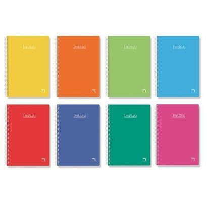 paquete-5-libretas-espiral-sam-pacsa-16222-rayado-25cm-80-hojas-tamano-folio-60-gramos-serie-institut-extra-colores-surtidos