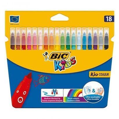 rotuladores-caja-18-bic-kid-couleur-base-agua-tinta-ultralavable-punta-28mm