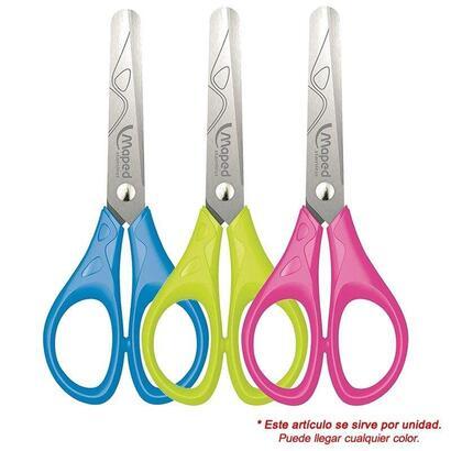 tijeras-escolares-maped-essentials-pulse-acero-inox-punta-redondeada-13cm-colores-surtidos-aleatorios