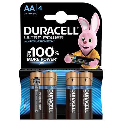 duracell-pilas-aa-ultra-power-4pcs-alcalino-cilandrico-15-v-aa-1500-mah-120-x-84-x-15-mm