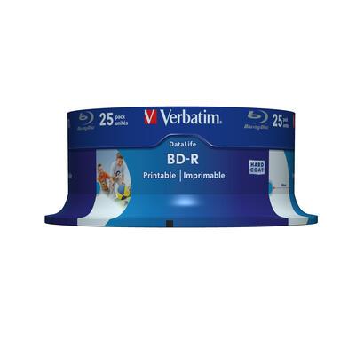 verbatim-tarrina-25-unidades-43811blu-ray-bd-r25gb6xprintable