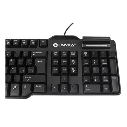 unyka-teclado-con-lector-dni-sck-818a-usb-160m-negro-50531