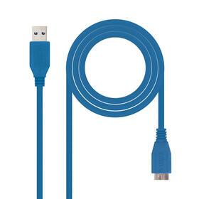 nanocable-cable-usb-30-tipo-am-micro-bm-azul-10-m