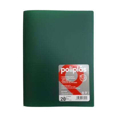 grafoplas-carpeta-de-20-fundas-interiores-a4-poliplas-semi-rigido-verde