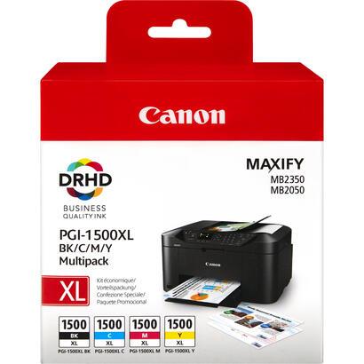 tinta-original-canon-pgi-1500xl-color-y-black-pack-4-unidades-para-canon-maxify-mb2050