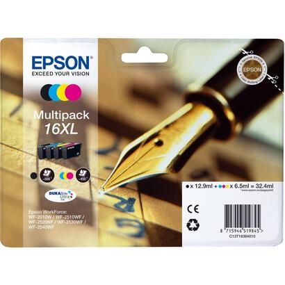 tinta-original-epson-16xl-color-y-black-pack-4-unidades-para-epson-wf-2010wwf-2510wfwf-2520nfwf-2530wfwf-2540wf