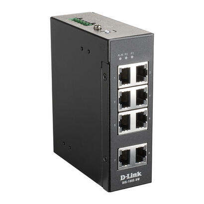 d-link-dis-100e-8w-switch-industrial-8x10100mbps