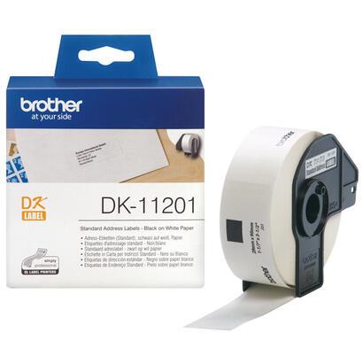 brother-dk-11201negro-sobre-blanco29-x-90-mm-400-etiquetas-1-bobinas-x-400-etiquetas-de-direccionespara-brother-ql-1050-1060-500