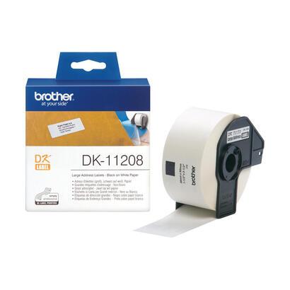 brother-etiquetas-de-direcciones-dk-11208-negro-sobre-blanco-para-brother-ql-1050-1060-500-550