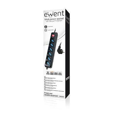 ewent-regleta-6-tomas-con-proteccion-negro-ew3924