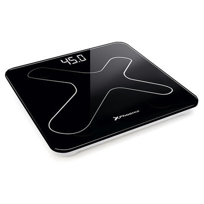 bascula-de-bano-digital-phoenix-pantalla-led-peso-max-180kg-autoapagado-negra