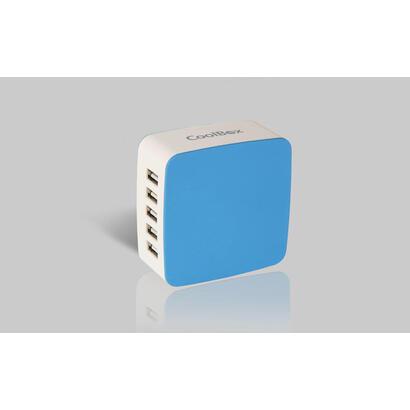 coolboxa-cargador-usb-pared-rt-5-78a-blanco-azul