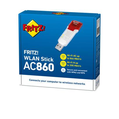 avm-fritzwlan-stick-ac-860-wlan-300mbits-adaptador-y-tarjeta-de-red