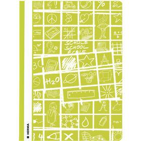 herma-portafolios-a4-schoolydoo-hellgrun-green-10st