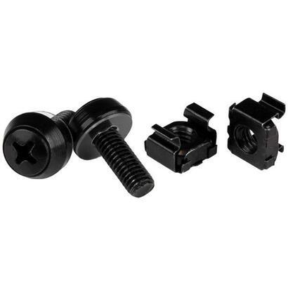 startech-100-tornillos-y-tuercas-jaula-m6-negro