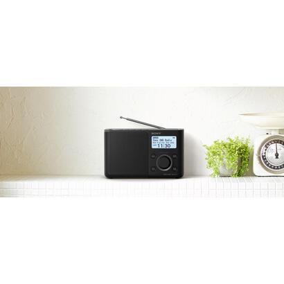 sony-xdr-s61d-negro-radio-dabdab-portatil-con-pantalla-lcd-presintonias-directas-temporizador-de-apagado-y-despertador