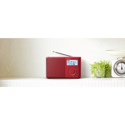 sony-xdr-s61d-rojo-radio-dabdab-portatil-con-pantalla-lcd-presintonias-directas-temporizador-de-apagado-y-despertador