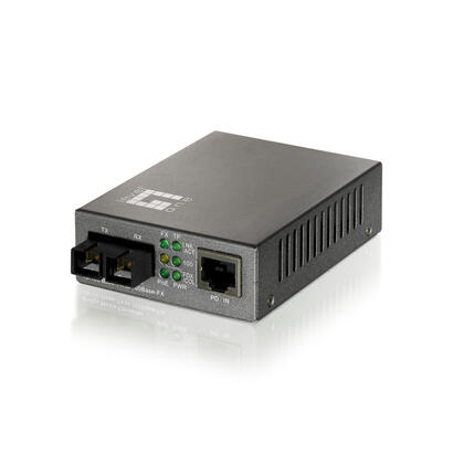 conversor-fibra-optica-level-one-10100tx-a-100fx-sc-con-poe-20km