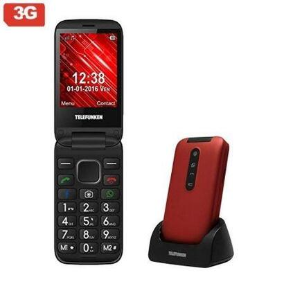 telefono-movil-libre-telefunken-tm-360-cosa-rojo-pantalla-71cm-3g-teclas-whatsappfacebook-cam-2mp-microsd-android-bat-1000mah