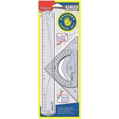 pack-de-reglas-de-dibujo-maped-897118-especial-zurdos-incluye-regla-30cm-escuadra-21cm-semicirculo-12cm