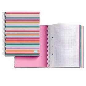 notebook-4-miquel-rius-46411-malabar-mr-a4-140-hojas-70gm2-35-hojas-por-color-cuadricula-55-cubiertas-carton-forrado-y-plastific