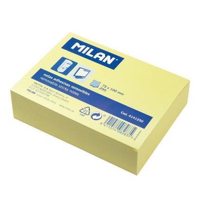 bloc-250-notas-adhesivas-milan-4141250-amarillo-claro-75100mm