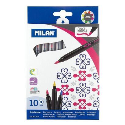 caja-10-rotuladores-milan-0612610-trazo-pincel-colores-surtidos