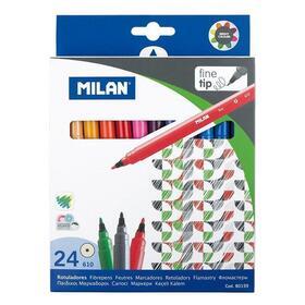 caja-24-rotuladores-milan-80159-punta-fina-2mmo-tinta-base-agua-colores-surtidos