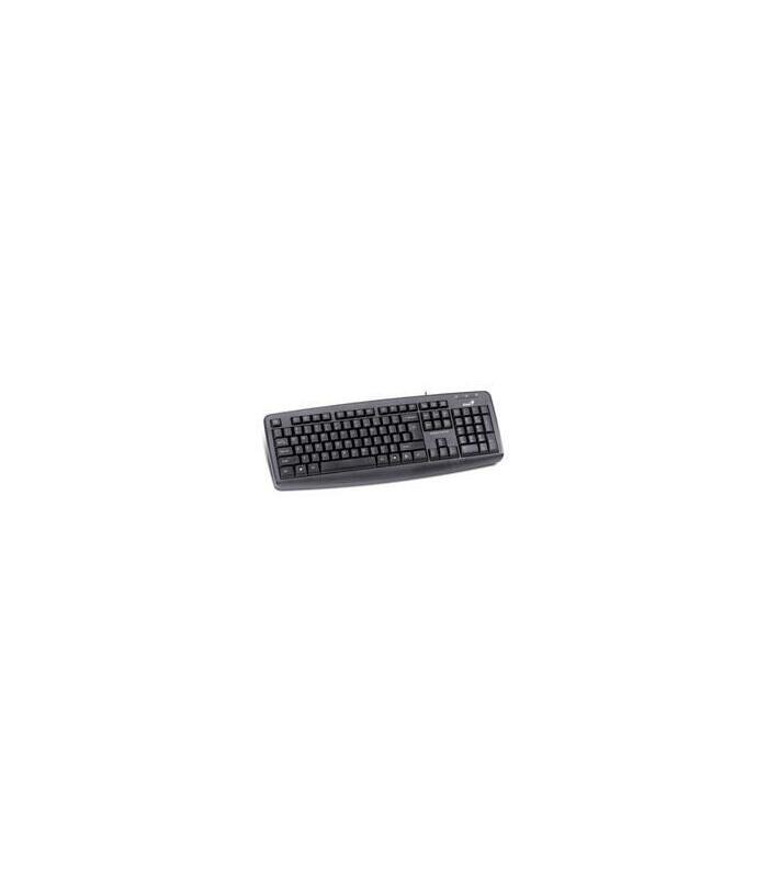 Genius KB-110X Est/ándar, Al/ámbrico, USB, QWERTY, Negro Teclado