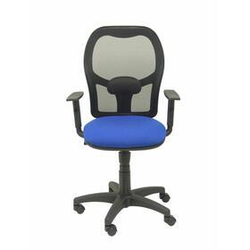 silla-alocen-malla-negra-asiento-bali-azul-brazos