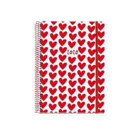 agenda-miquel-rius-36121-agatha-ruiz-de-la-prada-plus-corazones-dia-por-pagina-155213mm-encuadernacion-espiral-carton-forrado