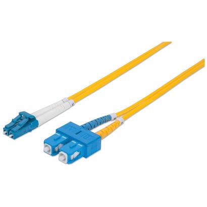 intellinet-473972-cable-de-fibra-optica-2-m-os2-lc-sc-amarillo